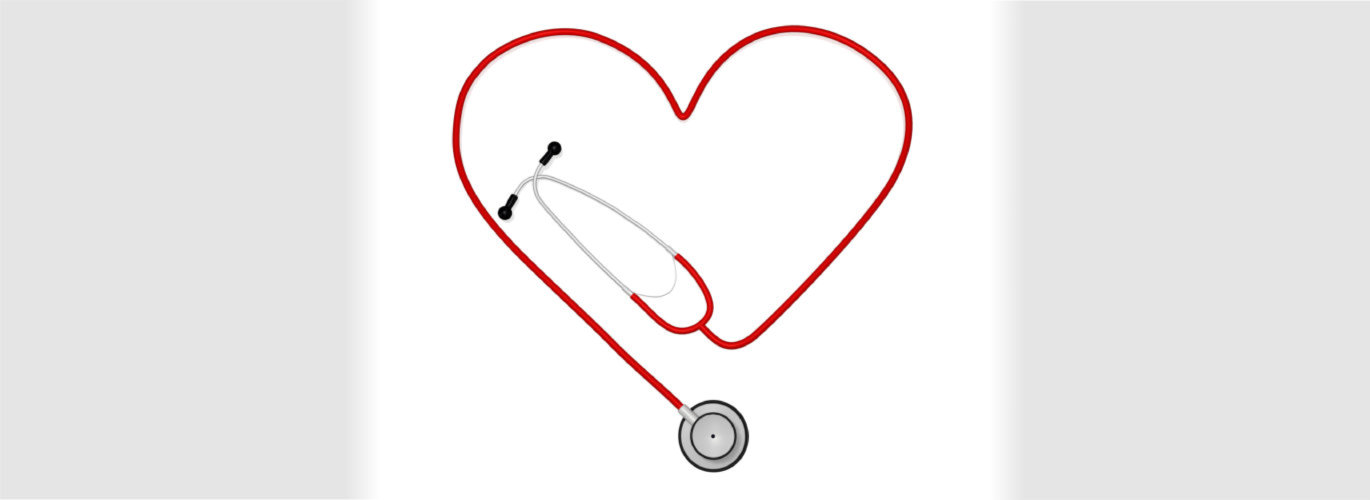 stethoscope form into a heart