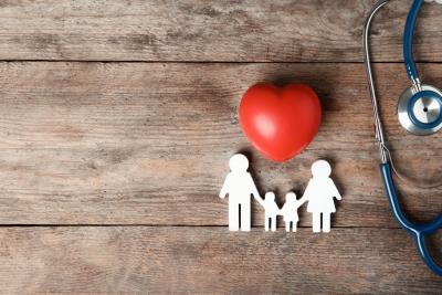 family figure with a heart shape